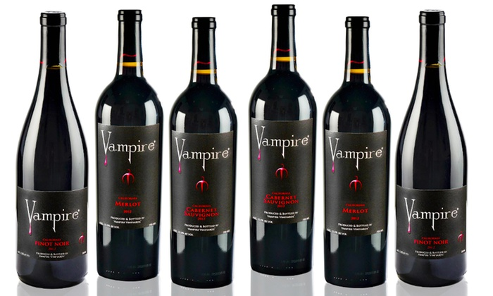 Vampire Wines 6 Pack Of Red Wine Groupon Goods