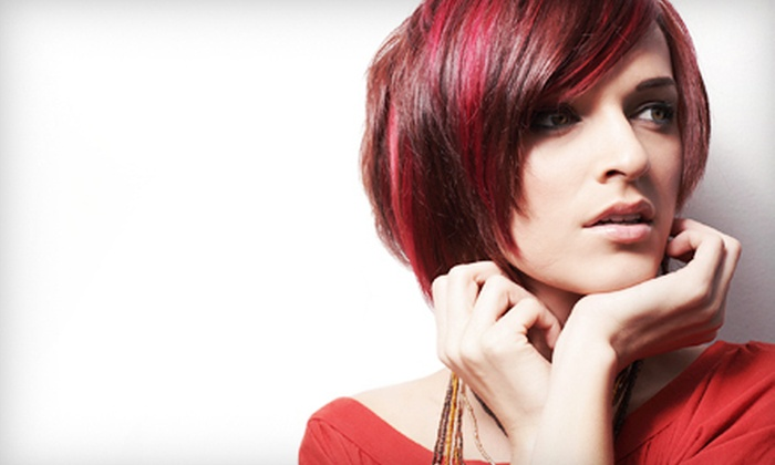 Michele at Salon Renaud - Newburgh: Haircut with Partial or Full Highlights, All-Over Color, or Conditioning from Michele at Salon Renaud (Up to 52% Off)