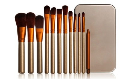 One, Two, or Three Make Up Brush Sets with Case from AED 49