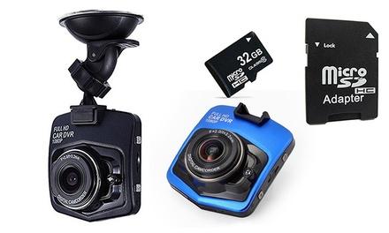 Full HD DashCam fürs Auto inkl. Nachtsicht und automatischer Aufnahme in Schwarz oder Blau, optional mit 32 GB SD (Frankfurt)