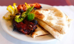 Tamba Indian Grill and Bar: $29 for Indian Dinner with Wine for Two at Tamba Indian Grill and Bar (Up to $60.80 Value)