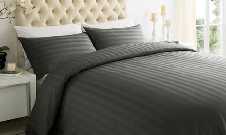 Hotel-Stripe Duvet Cover Set