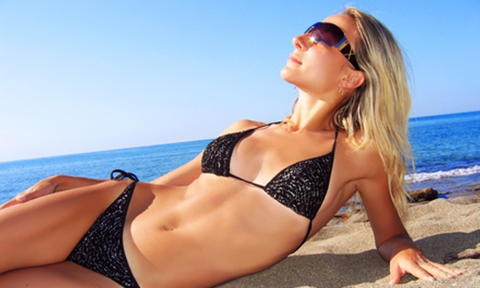 Rock Star Tan Bar - Multiple Locations: Three or Six Months of Unlimited Spray Tans, Hydration Sessions, or Base-Level Tans at Rock Star Tan Bar (Up to 52% Off)