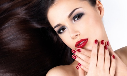 Shellac Manicure Package or Hot-Stone Mani-Pedi from Linda at Blessed Productions Hair and Nail Studio (42% Off)