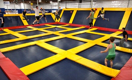 Two-Hour Trampoline Sessions or Private-Court Rental for 24 or 40 at Sky High Sports (Up to Half Off)