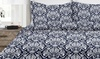 Italian Collection Duvet Cover Set with Damask Pattern (3-Piece)