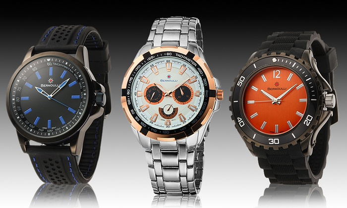 Bernoulli Men's Watches: Bernoulli Men's Watches. Multiple Styles Available from $23.99–$49.99. Free Returns.