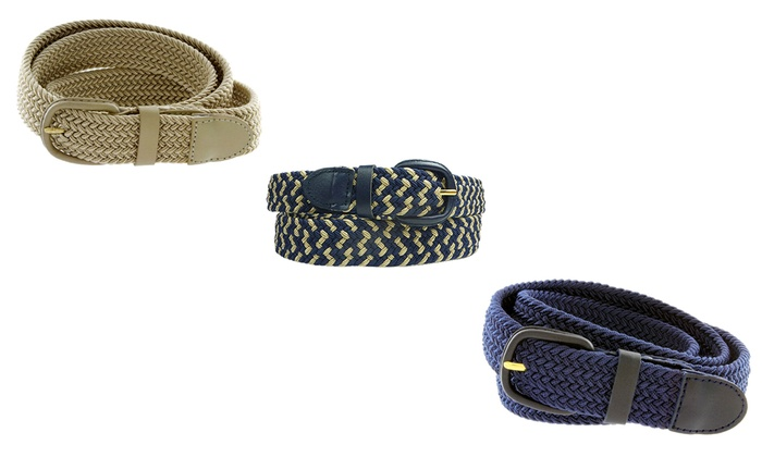Unisex Stretch Braided Belts - Multiple Color Options