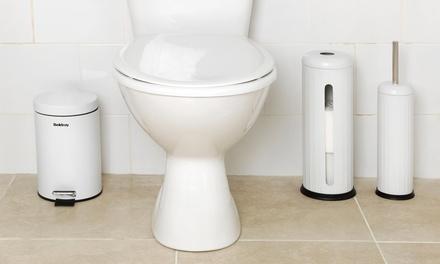 Beldraytoiletset met toiletborstel, wcrolhouder en prullenbakje