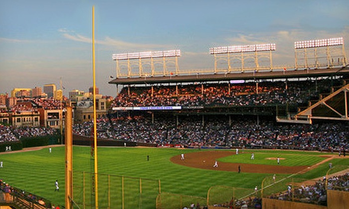 Chicago Cubs - Lakeview: Chicago Cubs Game with Unlimited Food and Drinks at Wrigley View Rooftop (Up to 68% Off). 11 Games Available.