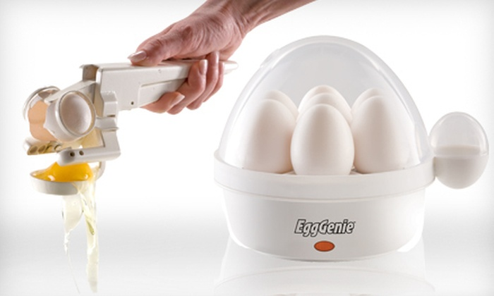Egg Genie Electric Egg Cooker and EZ Cracker: $17 for Egg Genie and EZ Cracker with Yolk Separator ($35.48 List Price)