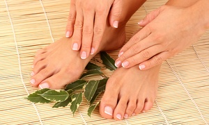 Mommy and Me Nails: Shellac Manicure and Regular Pedicure or Regular Manicure for Two at Mommy and Me Nails (Up to 57% Off)