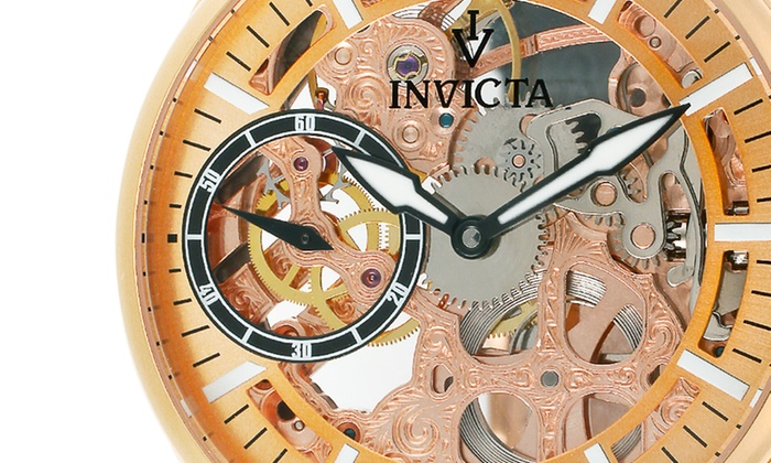 Invicta Men's Vintage Skeleton Watch: Invicta Men's Vintage Skeleton Watch. Multiple Styles Available. Free Shipping and Returns.