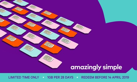 $9.95 for Six Renewals of amaysim Unlimited 1GB Mobile Plan with 28-Days Expiry (Don't Pay $51)