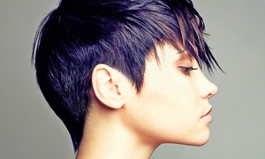 Salon Charm: Women's Haircut with Optional Protein Treatment with Partial Highlights or Color at Salon Charm (Up to 61% Off)