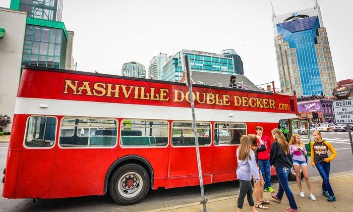 Nashville Double Decker - Bridgestone Arena: Daytime BYOB Nashville Bus Tour for One or Two from Nashville Double Decker (Up to 45% Off)