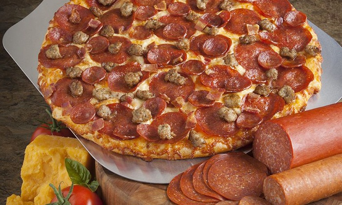 Round Table Pizza - Edenvale: $12 for Large One-Topping Pizza at Round Table Pizza ($19.99 Value)