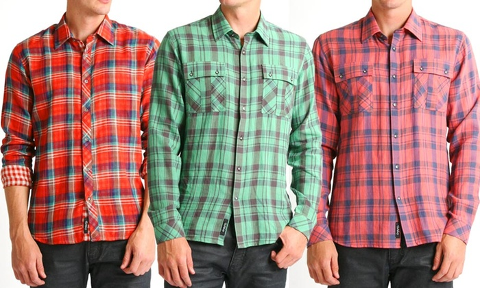 Civil Society Men's Woven Button-Up Shirts: Civil Society Men's Woven Long-Sleeve Button-Up Shirts. Multiple Styles Available. Free Returns.