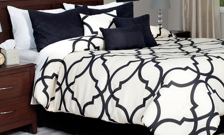 Lavish Home 7-Piece Oversized Trellis Comforter Sets