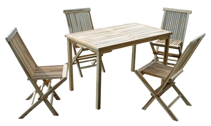 garten sitzgruppe teak polyrattan groupon goods. Black Bedroom Furniture Sets. Home Design Ideas