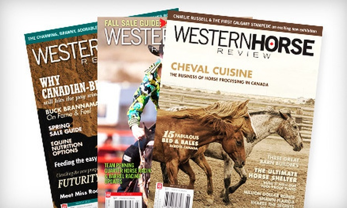 """Western Horse Review"" - Downtown: $12 for a One-Year Subscription to ""Western Horse Review"" ($24.95 Value)"