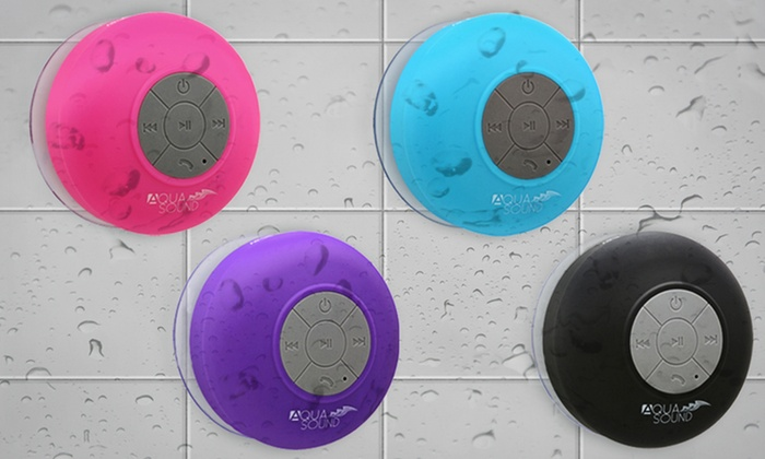 Aduro AquaSound Waterproof Bluetooth Shower Speaker: Aduro AquaSound Waterproof Bluetooth Shower Speaker with Built-In Mic. Multiple Colors Available. Free Returns.