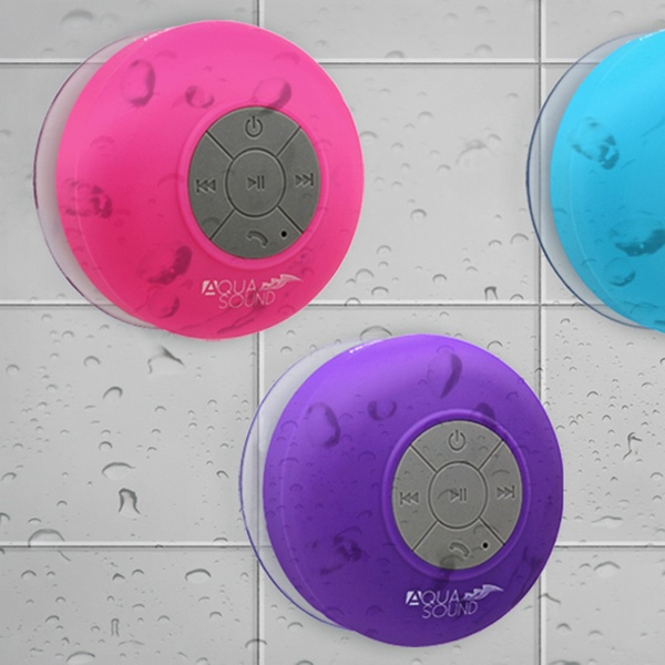 Aduro AquaSound Waterproof Bluetooth Shower Speaker with Built-In Mic.  Multiple Colors Available. Free Returns.