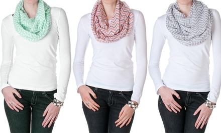 groupon daily deal - Riverberry Chevron Infinity Scarf. Multiple Colors Available. Free Returns.
