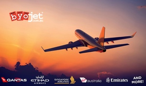BYOjet: $5 for $100 Toward Flight to North, Central or South America or $10 for $125 Toward Flight to Europe from BYOjet