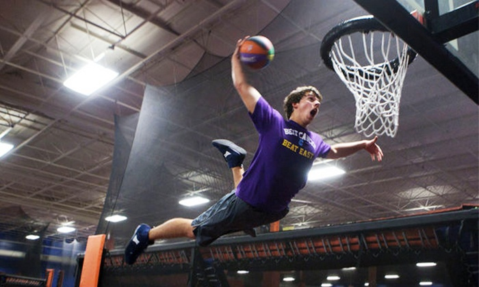 Sky Zone - Sky Zone : One-Hour of Open-Jump Time with Socks for Two or Four People at Sky Zone (43% Off)