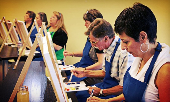 Embellished - Downtown Edmonds: Two-Hour Painting Classes with Beer or Glass of Wine for One, Two, or Four at Embellished (Up to 53% Off)