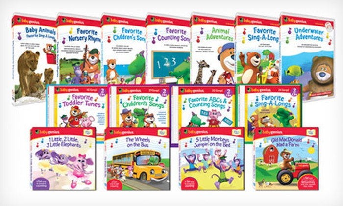 Baby Genius: $25 for $50 Worth of Education-Based Children's DVDs and CDs from Baby Genius