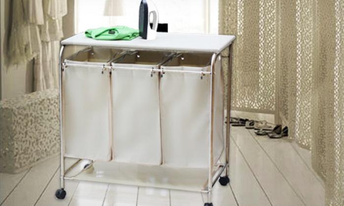 Fabric Laundry Hamper Nz: Triple Sorting Laundry Hamper