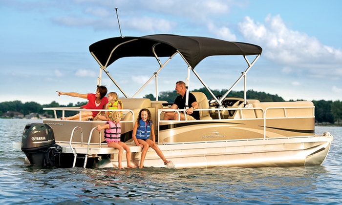 Your Boat Rentals - Multiple Locations: Pontoon Boat Rentals at Your Boat Rentals (50% Off). Three Options Available.