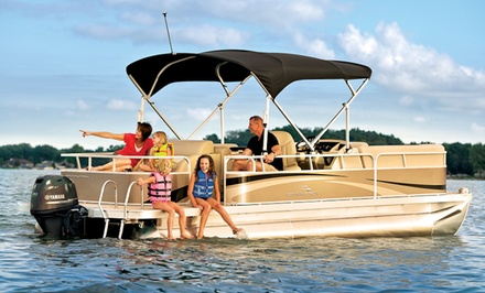 Pontoon Boat Rentals at Your Boat Rentals (50% Off). Three Options Available.