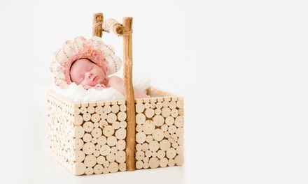 $25 for Two-Hour Newborn or Maternity Photoshoot + Physical and Digital Images at Aga Studios (Up to $535 Value)