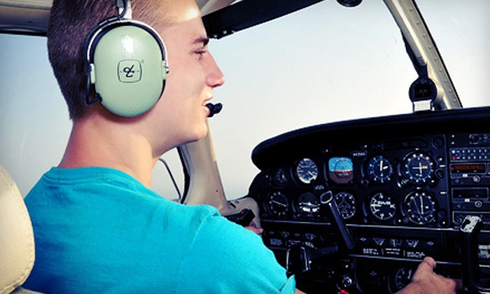 Air-Mods Flight Training Center - Robbinsvile: Introductory Flight Lesson for Two or Three Flight Lessons for One at Air-Mods Flight Training Center (51% Off)