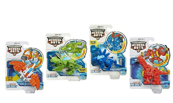 Playskool Transformers Rescue Bots Toys 4 Pack Groupon