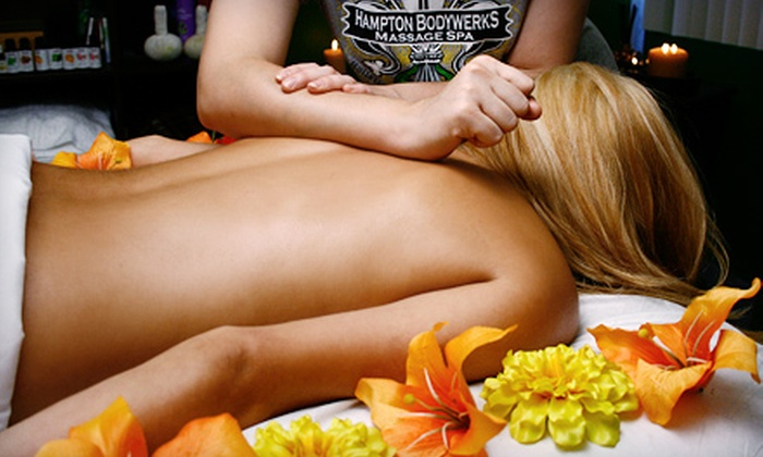 Hampton Bodywerks Massage Spa - Santa Fe Trails: 60 or 90-Minute Massage or 90-Minute Couples Massage with Aromatherapy at Hampton Bodywerks Massage Spa (Up to 79% Off)