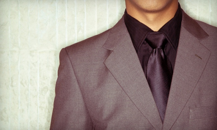 Bryn Keith Clothing Company, Inc. - Long Branch Creek,Fort Barnard Heights: Custom Suits at Bryn Keith Clothing Company, Inc. in Arlington (Up to 60% Off). Three Options Available.