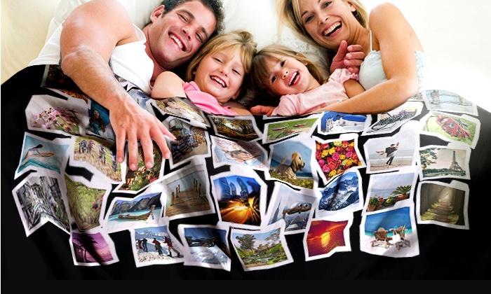 couverture polaire personnalis e foticos groupon. Black Bedroom Furniture Sets. Home Design Ideas