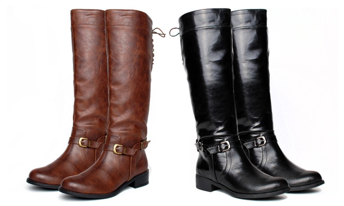 XOXO Marni Riding Boots: XOXO Marni Riding Boots in Black or Brown. Free Shipping and Returns.