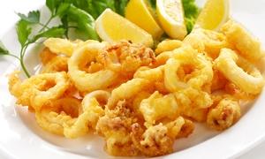 IL TIPICO E IL PARTICOLARE: Menu di pesce di 4 portate e bottiglia di vino (sconto fino a 60%)