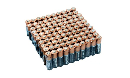 Duracell CopperTop Duralock Batteries: AA or AAA (100 Pack)