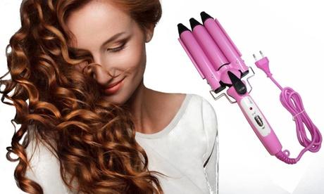 Ondulador de pelo con 3 tubos
