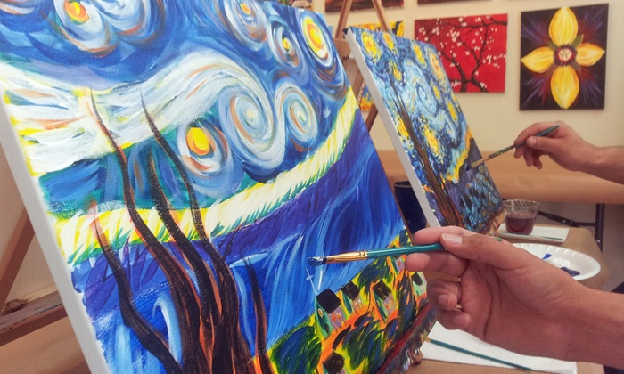 Merlot 2 Masterpiece - Multiple Locations: Two- or Three-Hour BYOB Painting Class for One or Two at Merlot 2 Masterpiece (Up to 49% Off)