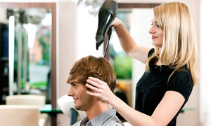 Hair Dynamics West: One or Three Men's Haircuts with Optional Grey Color Touch-Up at Hair Dynamics West (Up to 54% Off)