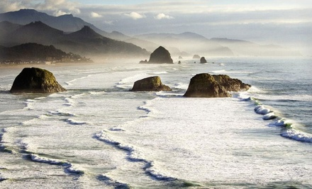 Groupon Deal: 2-Night Stay with Romance Package at Blue Gull Inn or Inn at Haystack Rock in Cannon Beach, OR