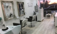 Wash, Cut and Finish with Optional Half Head of Highlights at Nu U Hair and Beauty Lounge (Up to 61% Off)