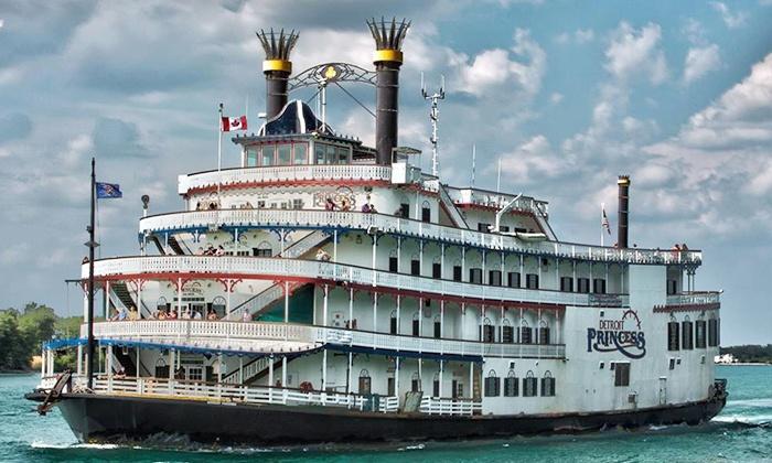 "Detroit Princess Riverboat - Downtown: Moonlight Cruise for Two on the ""Detroit Princess"" Riverboaton Saturday,November 23(Up to 64% Off)"